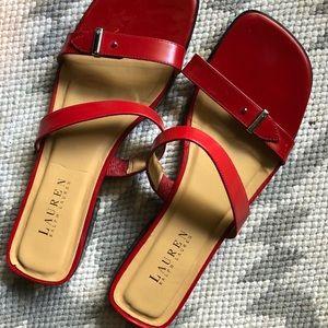 Ralph Lauren red strap sandals